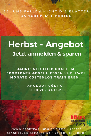 Herbst Aktion Sportpark 21